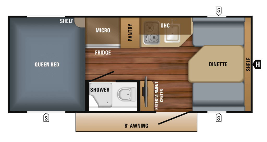 Jayco Hummingbird Floor Plan